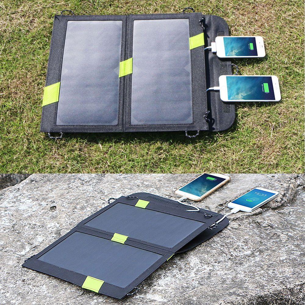 Trendy freien portable solar-ladegerät insgesamt 5 v 4a solar panel ladegerät dual usb solar telefon/tabletten chrager für iphone ipad etc