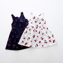 Filles Vêtements D'été Fille Robe Enfants Enfants Berry Robe Retour V Robe Filles Coton Enfants Gilet halter robe Enfants Vêtements