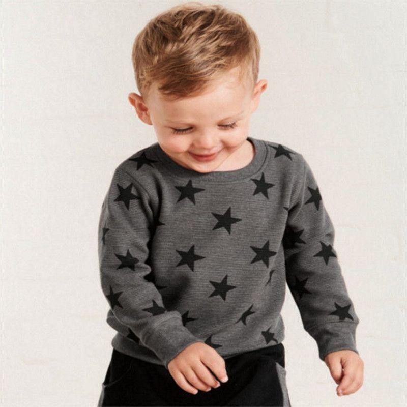 Mètres sautants nouvelles étoiles Sweatshirts bébé garçons filles vêtements d'extérieur en coton mode Style enfants hauts automne printemps chemises