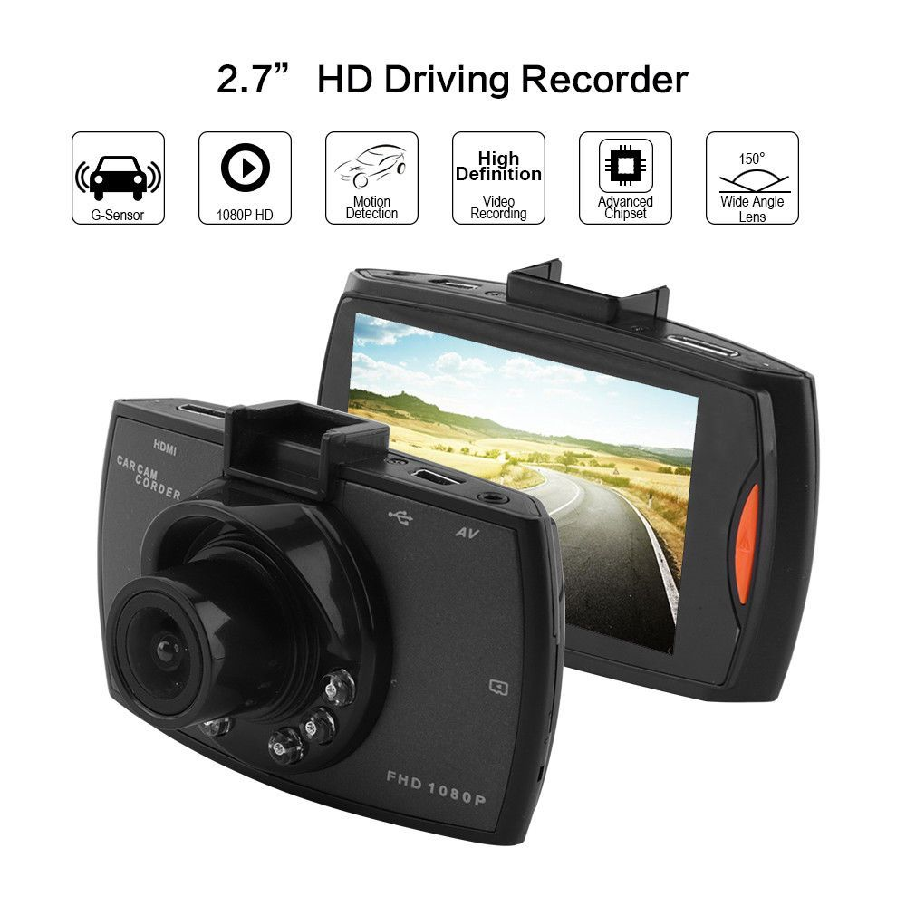 Car DVR Camera Full HD 1080P 140 Degree Dashcam Video Registrars for Cars Night Vision G-Sensor Dash Cam