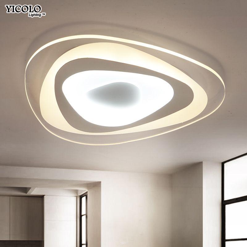 Ultradünne Dreieck Deckenleuchten lampen für wohnzimmer schlafzimmer lüster de sala hause Dezember Led-kronleuchter decke