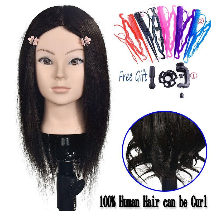Mannequin Haar Kopf 100 Echthaar Ausbildung Permed Styling Bleach Dye Praxis Ausbildung Kopf Gliederpuppe Kopf Friseur