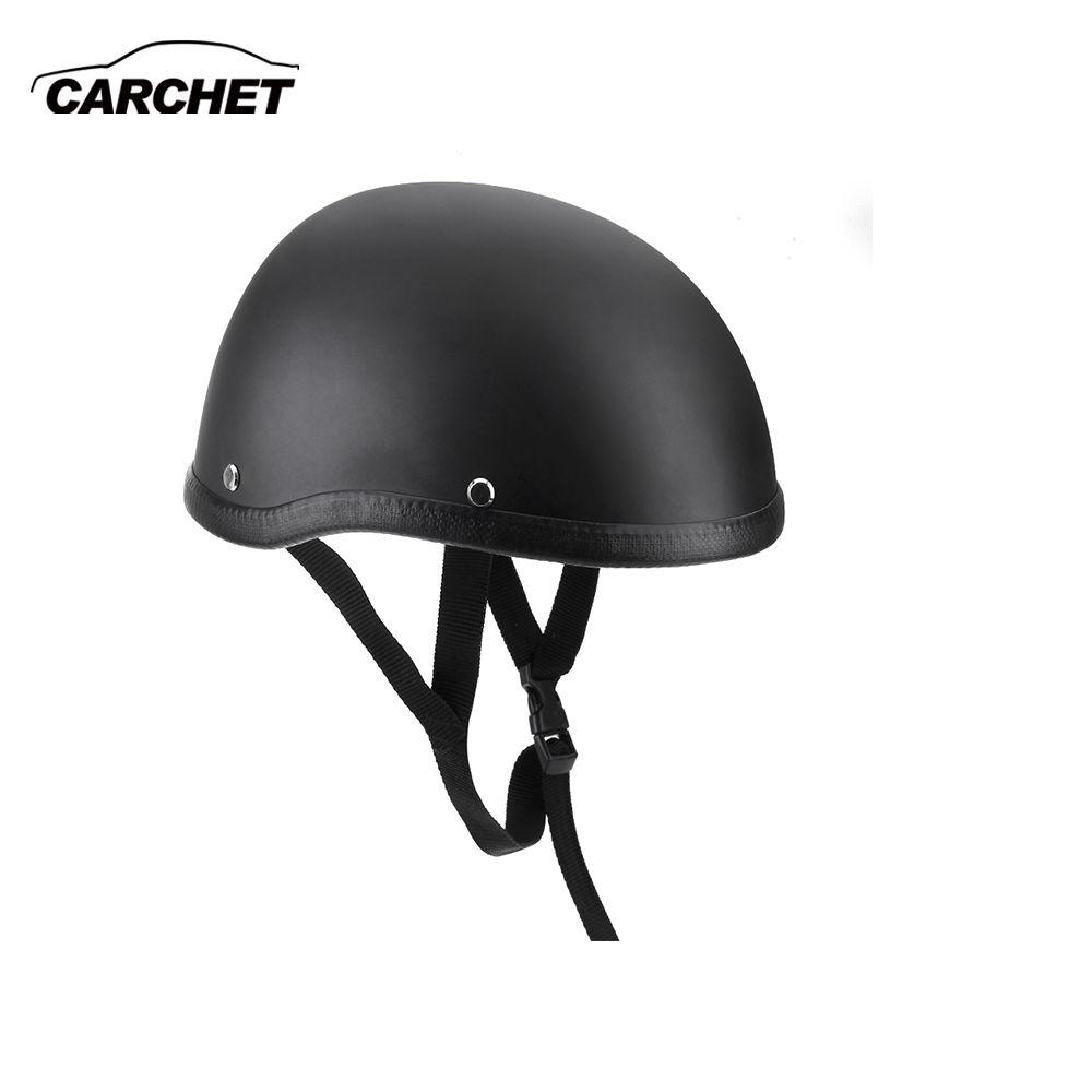 Motorcycle Helmets Half Helmet 54-60cm Unisex Protection Helmet Black Capacete Half Shell Helm <font><b>Matte</b></font> Retro Racer Motocross