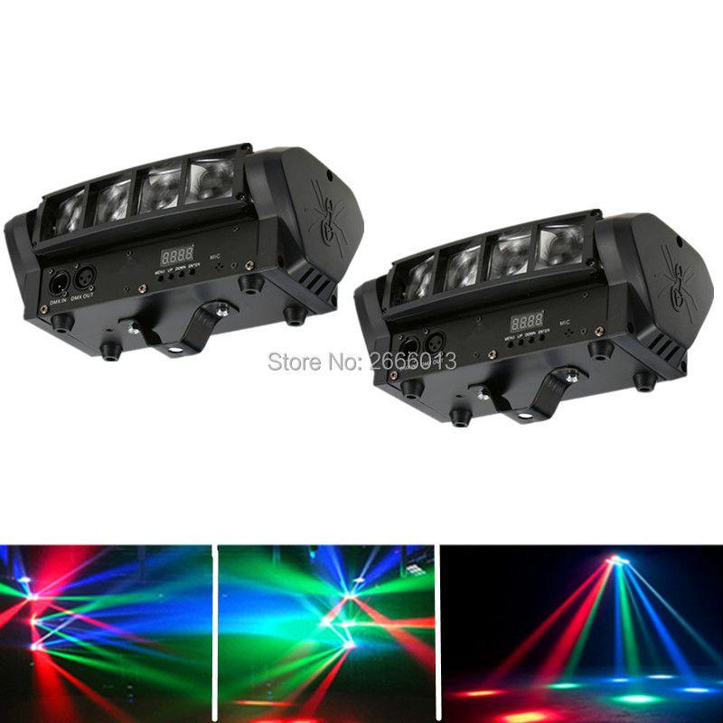 2pcs/lot 8X10W LED spider light RGBW Mnin LED Beam Light DJ DISCO lights DMX512 LED moving head stage effect lighting party Lamp
