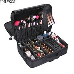 LHLYSGS Brand Makeup Artist Professional Beauty Cosmetic Cases With Makeup Bag Semi-Permanent Tattoo Nail Multilayer Toolbox Bag