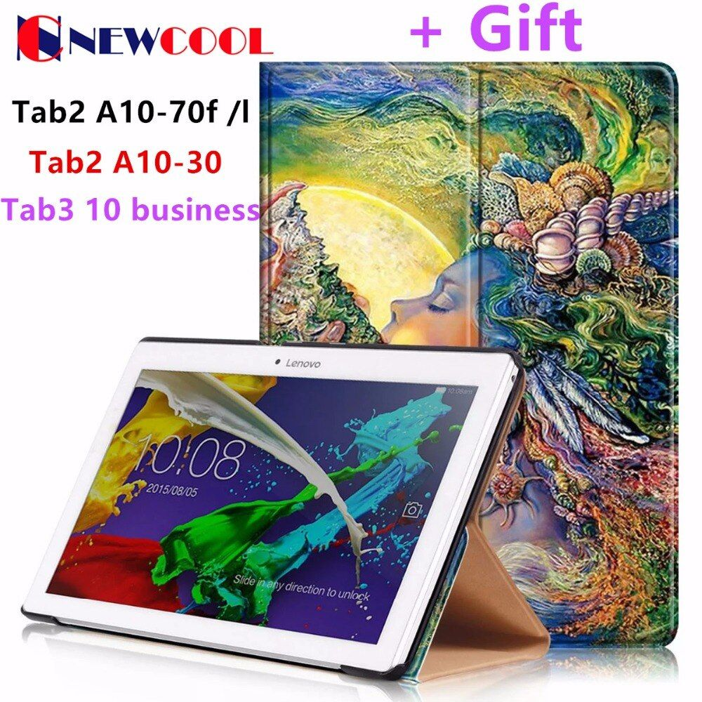 Tab2 A10-70F/L Tablet Cover 10.1 inch Painted Flip Cover For Lenovo A10-30 X30F tab3 10 business TB3-X70L TAB3-X70f Tablet case