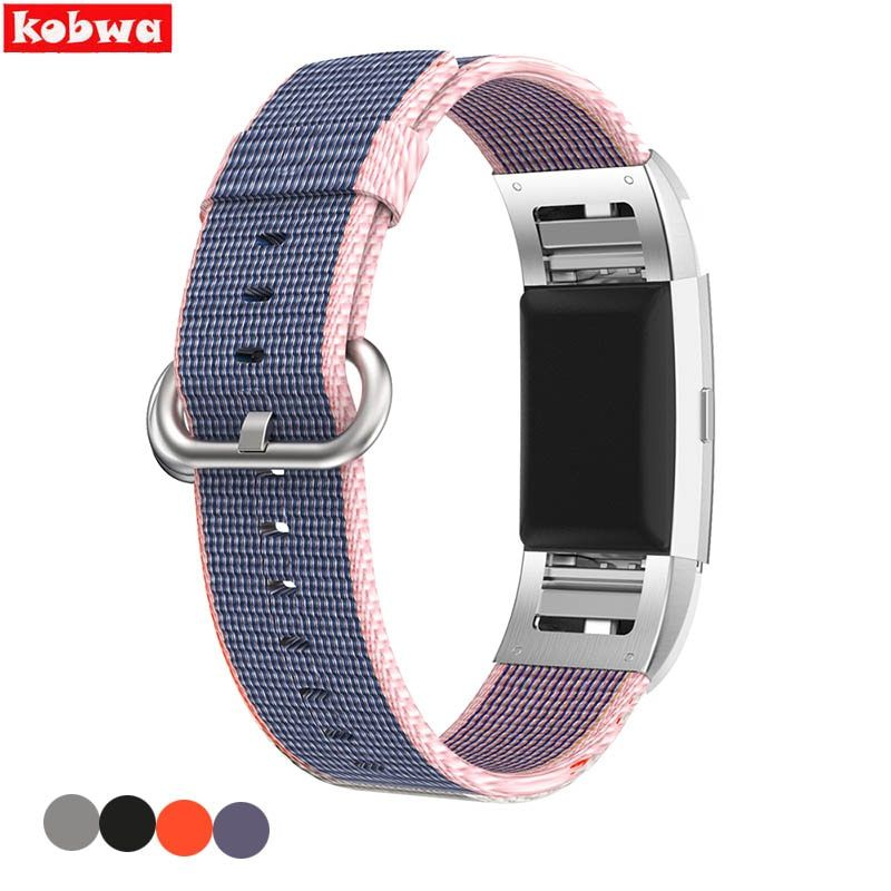 High Quality Sport Woven Nylon Wrist Strap Replacement Band For Fitbit Charge 2 Smart band Wearable Devices Accessories 4 Colors