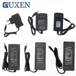 GUXEN 1A 2A 3A 5A 6A 8A 10A Power Adapter for Led Strip DC 12V Voltage Transformer with EU US UK AU Plug Power Supply Led Driver