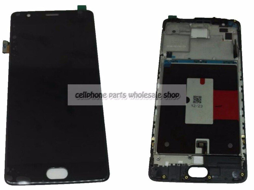 Amoled For Oneplus 3T / Three T A3010 A3003 Lcd Screen Display+Touch Glass Digitizer+<font><b>Frame</b></font> Assembly Replacement Parts