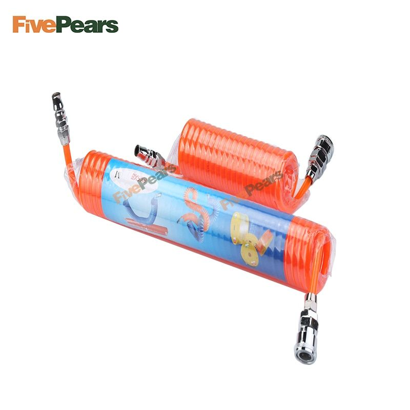 Livraison gratuite FIVEPEARS 1 pièces 3 m/6 m/9 m/12 m/15 m différentes tailles polyuréthane PU compresseur d'air tuyau Tube pour compresseur d'air outil