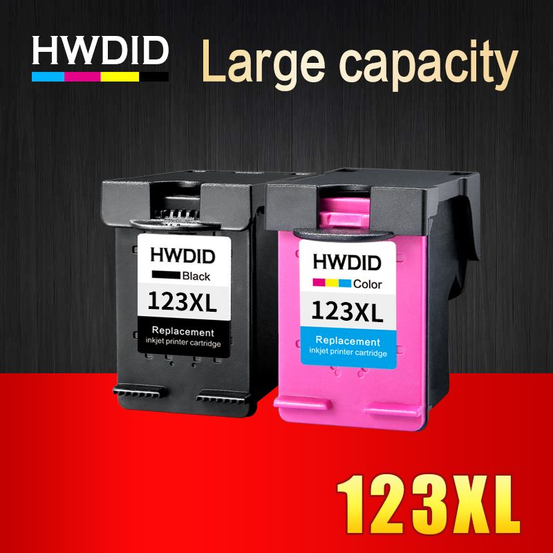 HWDID 123XL Refilled Ink Cartridge Replacement for HP 123 XL for Deskjet 1110 2130 2132 2133 2134 3630 3632 3638 3830 4520 4522