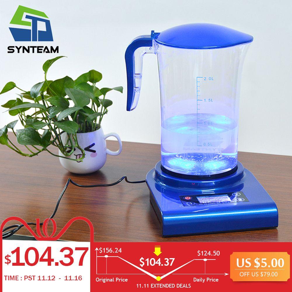 SYNTEAM Marke Wasserstoff Generator Alkaline Wasser Ionisatoren 2.0L 100-240 v Antioxidans ORP Wasserstoff Wasser Maker/Maschine WAC001