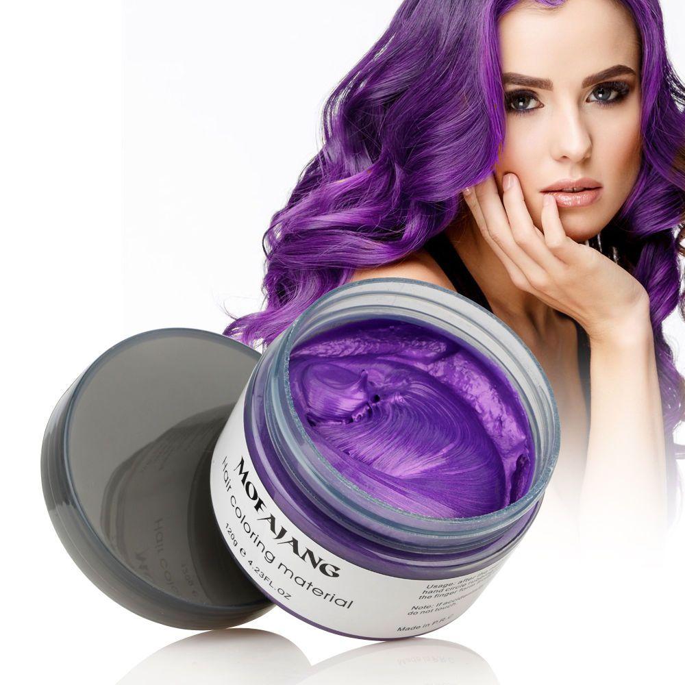 Hair Styling Pomade Silver Ash Grandma Grey Fashion Wax Unsex Temporary Disposable Mold Hair Dye Coloring Mud Cream Dropshipping