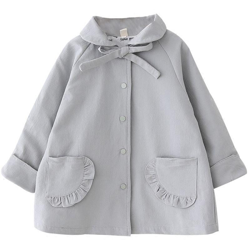 Mode Mädchen Mantel 2018 Herbst Baby Hemd Koreanische Version Lose Jacke einreiher Short Windbreaker für Kinder 2- 8 jahre