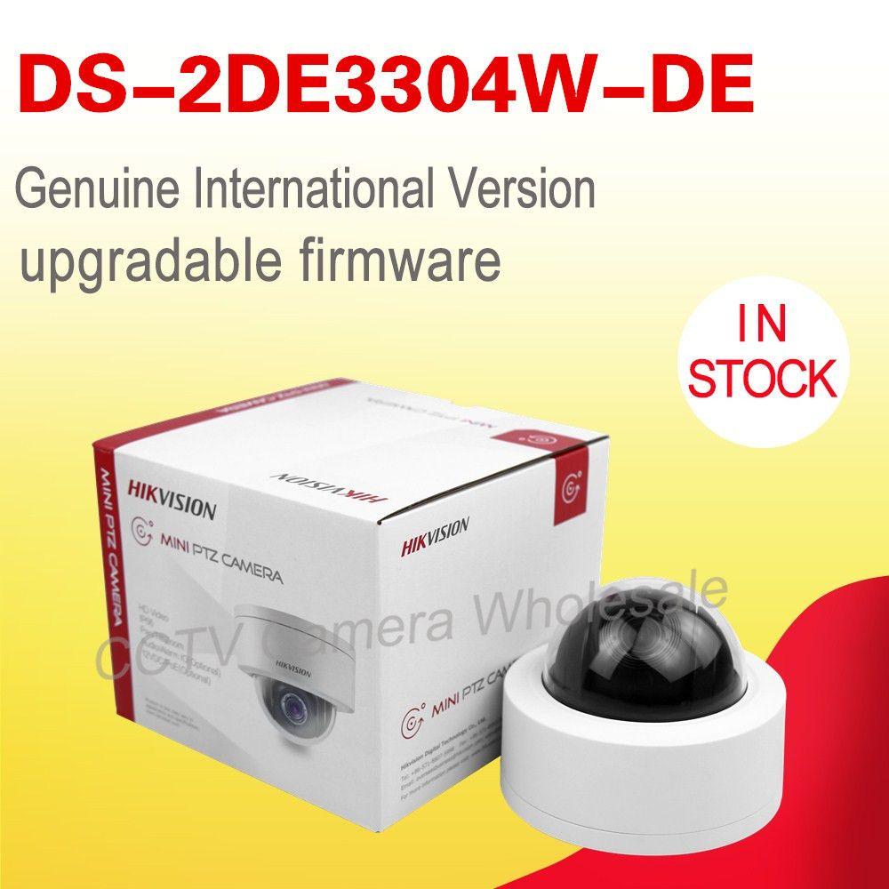 English version DS-2DE3304W-DE 3MP Network Mini PTZ Camera POE 4X optical zoom IP67 IP CCTV camera IK10 no IR