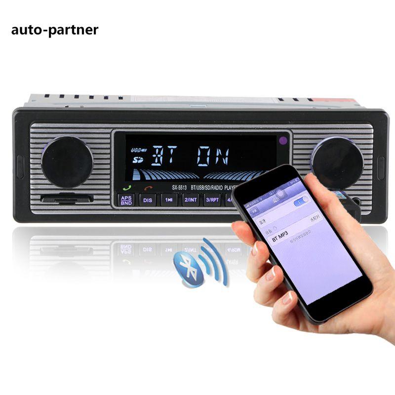 NEW 12V Car Radio Player Bluetooth Stereo FM MP3 USB SD AUX Audio Auto Electronics autoradio 1 DIN oto teypleri radio para carro