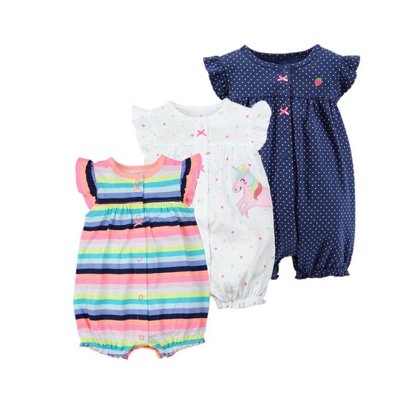 2019 orangemom d'été bébé fille vêtements d'une seule pièces combinaisons bébé vêtements, courtes en coton barboteuse infantile fille vêtements roupas menina