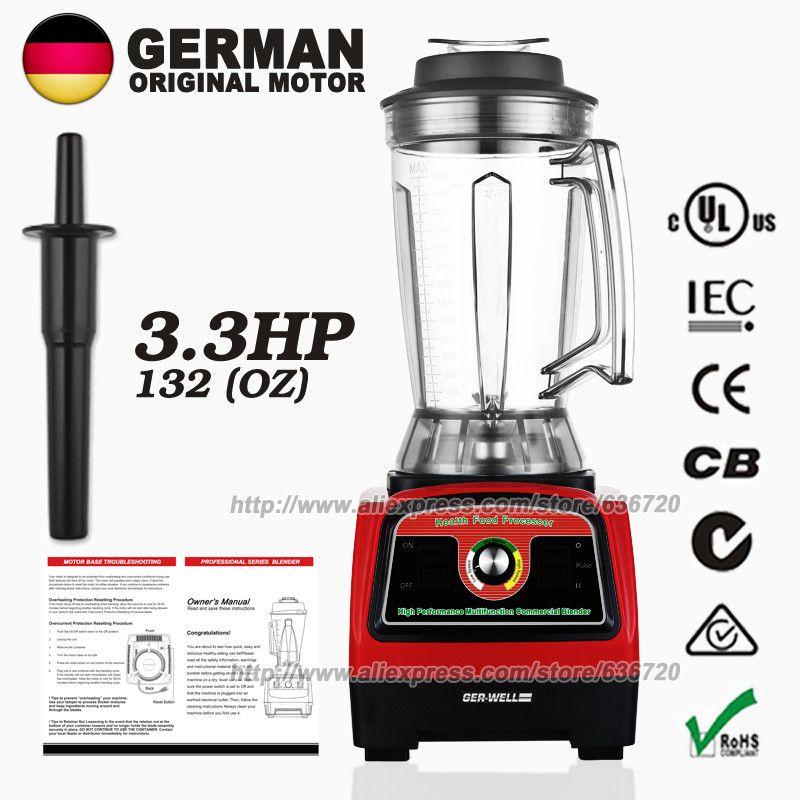 100% GERMAN Motor Technology Commercial 3.9L(121-ounce) Food heavy duty Blender