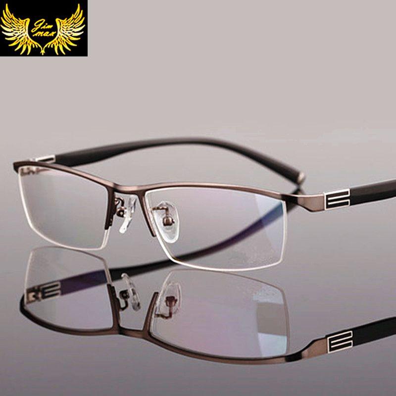 Nouveauté hommes Style titane alliage demi-jante lunettes de mode hommes lunettes cadre optique classique pour hommes