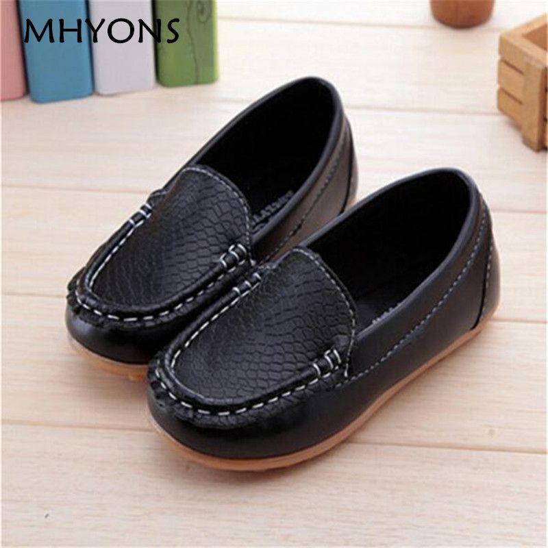 Новая модная детская обувь все размеры 21-36 детей из искусственной кожи кроссовки для ребенка обувь для мальчиков/девочек лодка обувь без шн...