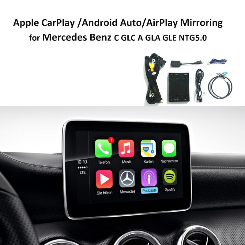 Carlinke Factory Retrofit with Apple Carplay Android Auto box for Mercedes NTG5 C Class W205 GLC W253 2015-2017 iOS AirPlay