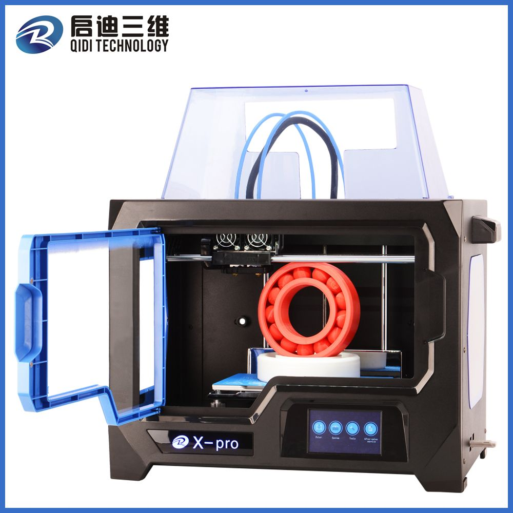 QIDI TECHNOLOGY 3D PRINTER New Model X -pro ,4.3 Inch Touch Screen,Dual Extruder With 2 Spool of Filament,Works With ABS And PLA