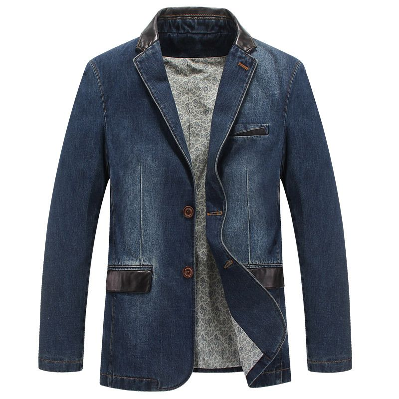 CLOTHES Men's Clothing M~4XL NEW Fashion Denim Jackets Mens Patchwork Asia Size Casual Jackets Brand CLOTHES Jaqueta Masculina