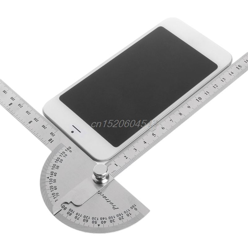 Stainless Steel Angle Ruler 180 degree Protractor Finder Arm Measuring Tool New Drop ship