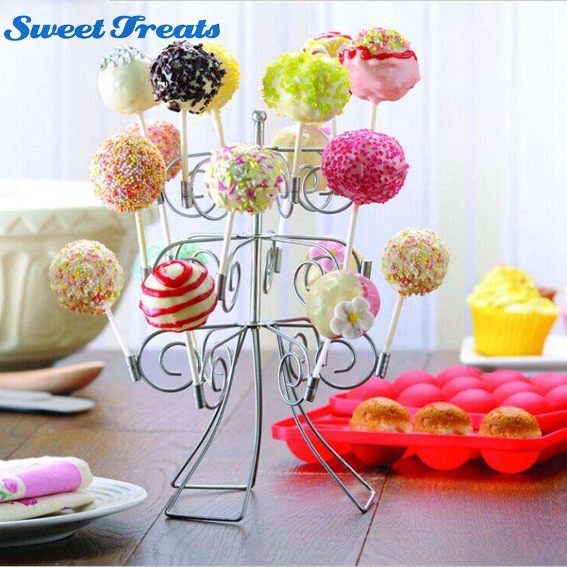 Sweettreats 3 Niveau 18 Gâteau Pops Affichage Titulaire Sucette Stand Parti Base De Mariage Décoration