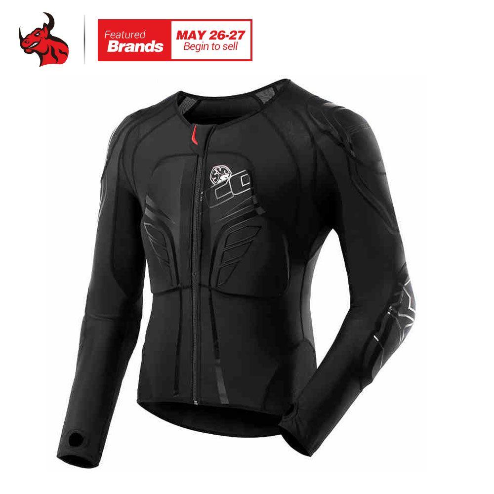 SCOYCO Men's Racing Motocross Prptective Jacket Motocross Armor Racing Body Armor Black Motorcycle Jacket Soft Moto Armor M-3XL