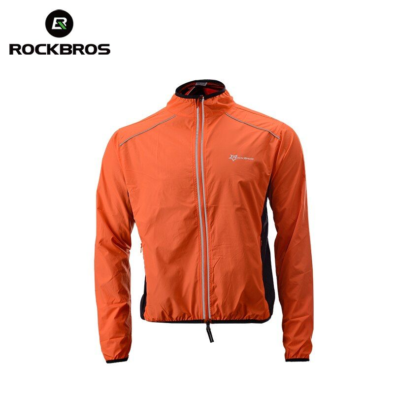ROCKBROS Running Jacket Windproof Vest Cycling Sports Raincoat Jersey Hiking Rainproof UV Protection Quick Dry Coat Winter Men