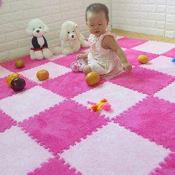 30x30x1 cm 8 colores niños mullido suave alfombra antideslizante Shag gimnasio alfombra dormitorio comedor Alfombra Mágica estera del juego del bebé