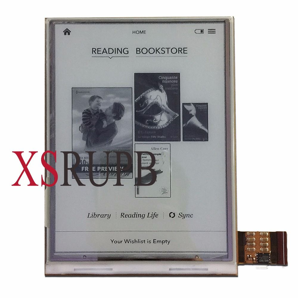6 ED060XC3 lcd For Digma r658 ONYX BOOX C67SM Bering 2 E-book Ebook <font><b>Reader</b></font> LCD Display Replacement