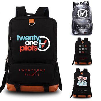Twenty One Pilots school bag Reflective Rucksack student schoolbags Travel backpack Leisure Daily Notebook Storage bags