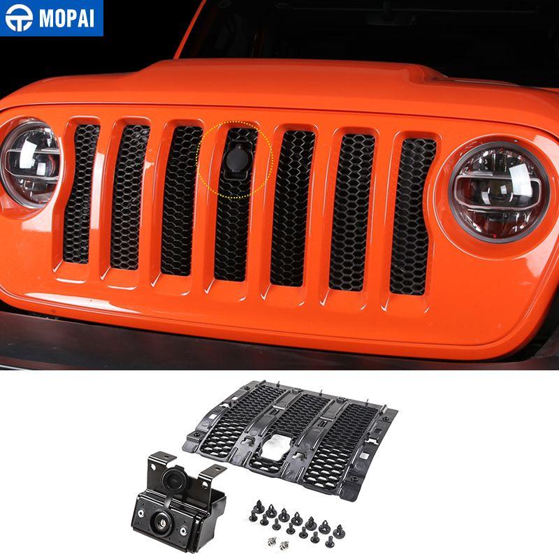 MOPAI Auto Gitter Smart Schlösser Abdeckung für Jeep Wrangler JL 2018 Auto Hood Latch Fangen Lock Kit für Jeep JL wrangler Auto Zubehör