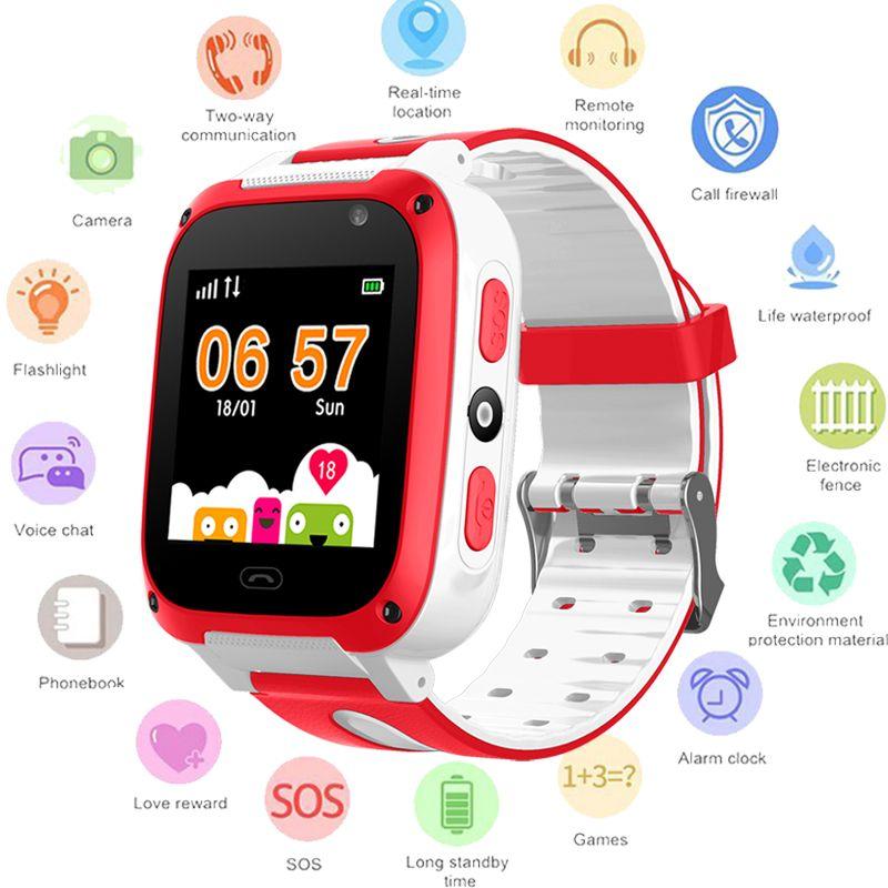 BANGWEI 2018 Neue Smart uhr GPS Kid SmartWatches Anti Verloren Baby Uhr für Kinder SOS Anruf Location Finder Locator Tracker + Box
