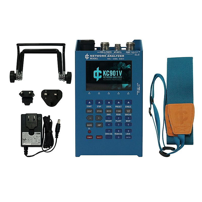 KC901V handheld multimeter network vector analyzer antenna feeder tester standing wave meter spectral field strength E10091