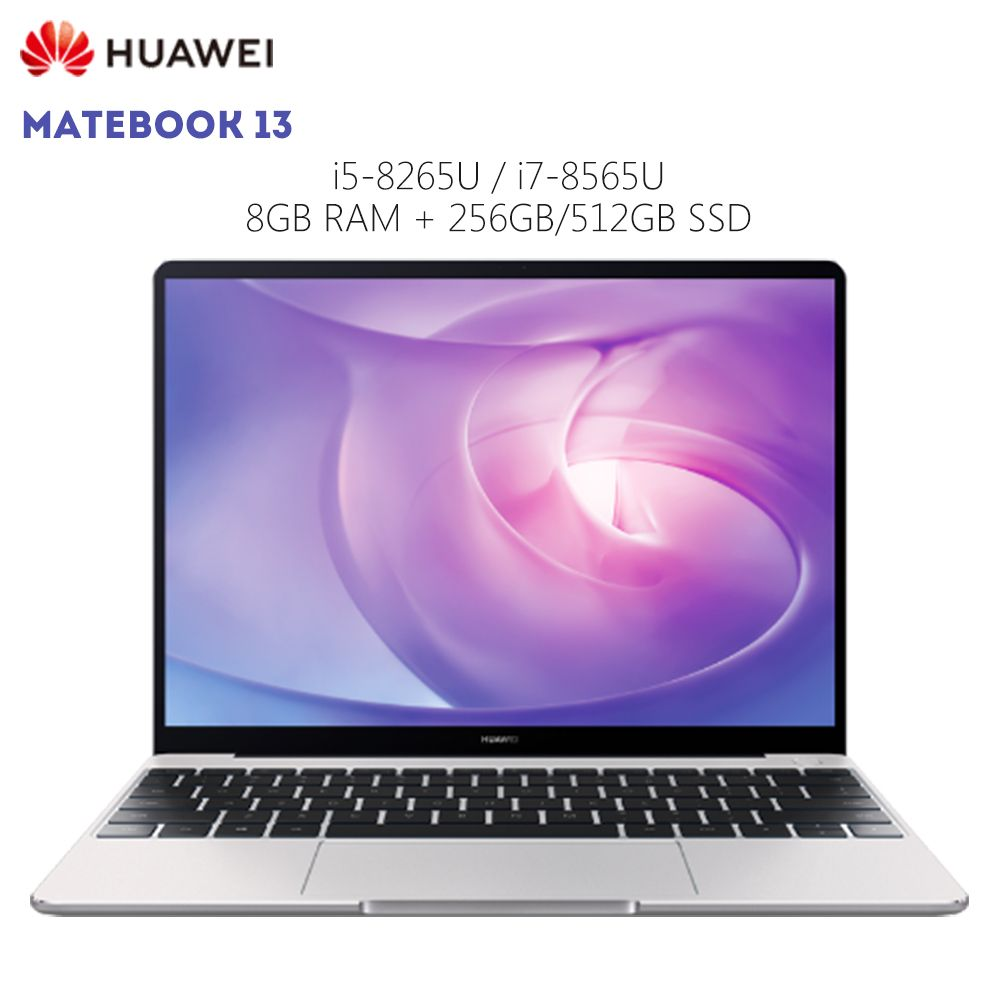Original HUAWEI MateBook 13 Laptop Windows 10 Intel Core i5 8265U/i7 8565U 8 GB RAM 256 GB SSD 13 zoll Notebook Fingerprint