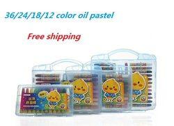 Minyak Pastel Menggambar Set 36/24/18/12 Warna Krayon Larut Air untuk Anak Art Perlengkapan Sekolah alat tulis 1 Set