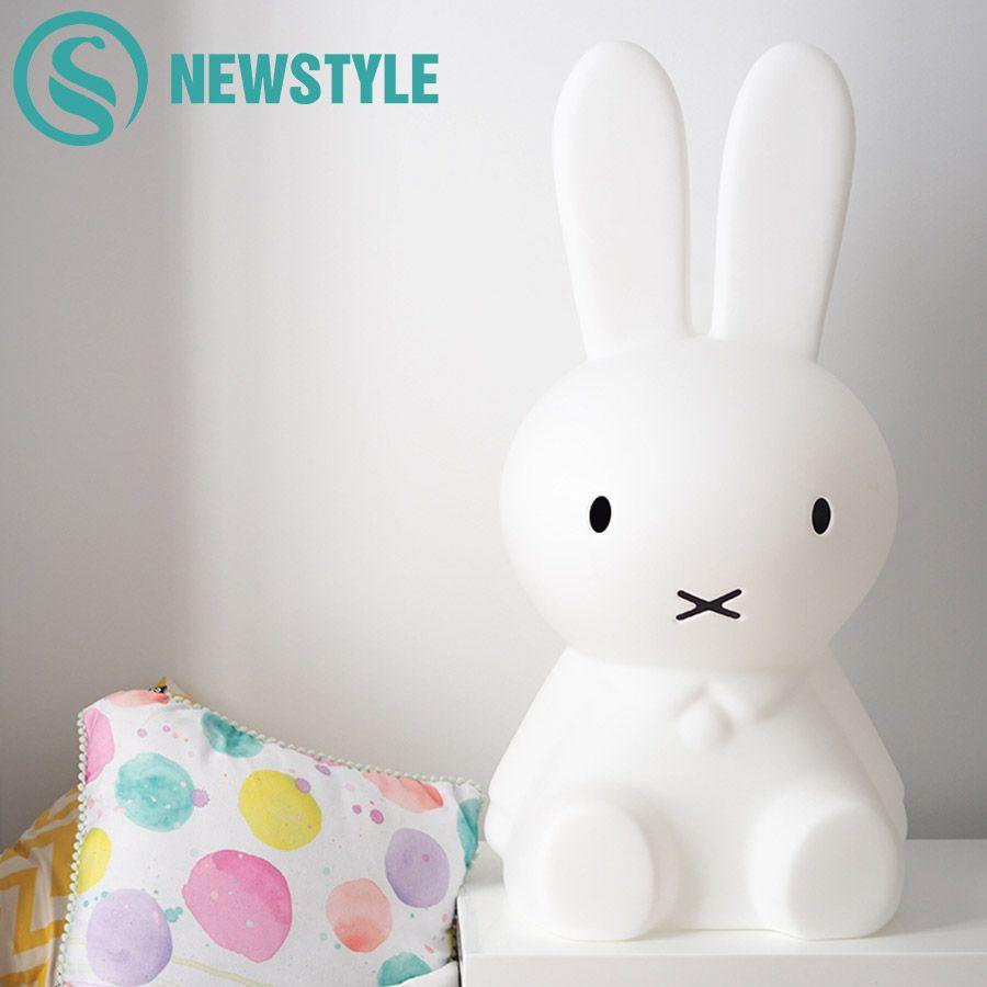 50 cm Habitación Del Bebé luz de La Noche Del Conejo Niños blanco Cálido Regulable LED Lámpara de Noche Lámpara de Dibujos Animados Decorativos para Los Niños Del Bebé regalo