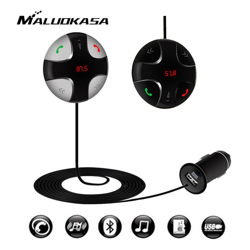 Car Bluetooth Hands-Free MP3 Player FM Launcher Mobile Phone Car Charger USB TF Card Transmit Frequency Modulation Mode Stereo