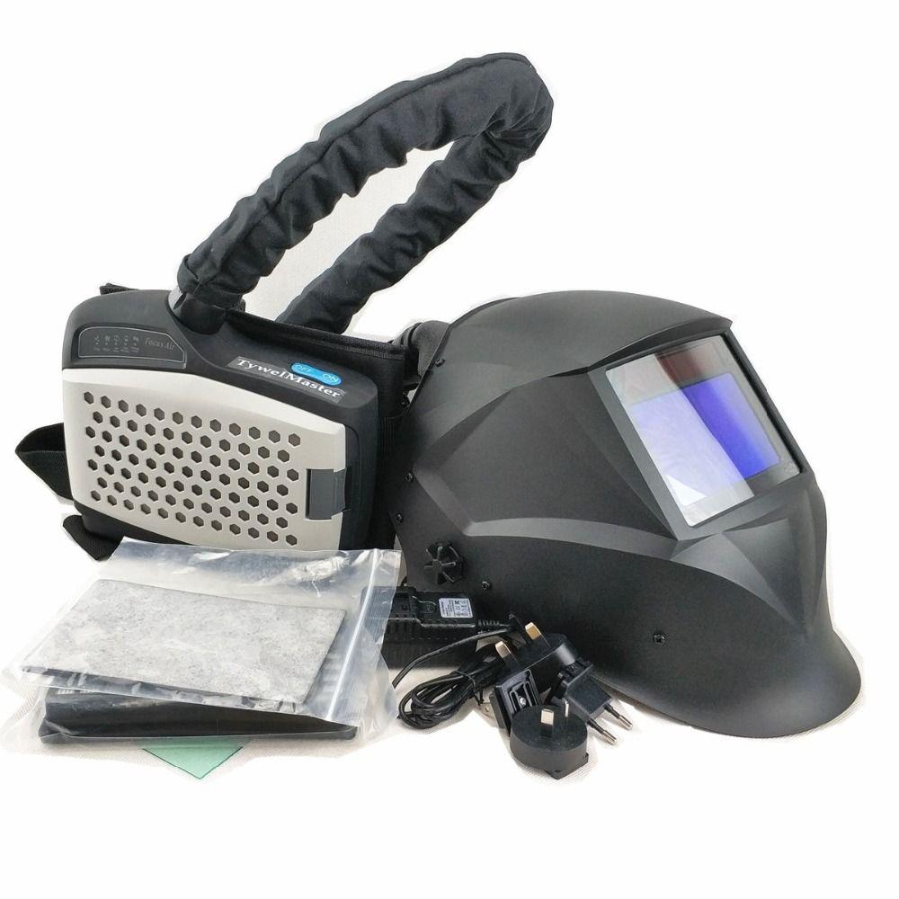 Schweißen Maske Powered Air Atemschutzmaske Auto Verdunkelung Schweißen Helm Persönliche Schutz Ausrüstung Industrie PAPR Kit