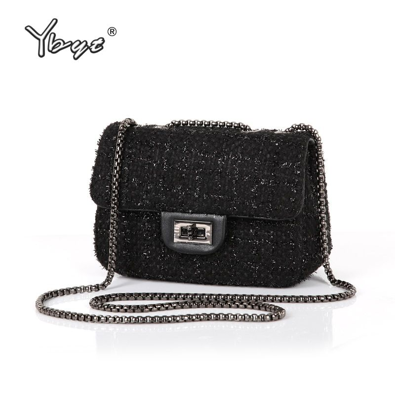 YBYT brand 2018 new fashion joker wool women's flap hotsale ladies winter evening bags small shoulder messenger crossbody bags
