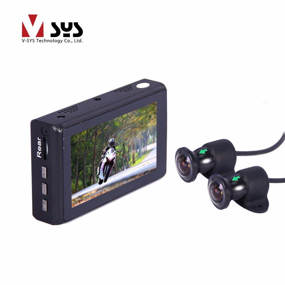 SYS 2018 newest motorcycle X2 M2F wifi racing recorder with large wide angle 170 degree cameras