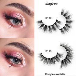 Visofree Eyelashes 3D Mink Lashes Handmade Full Strip Lashes Cruelty Free Luxury Mink Eyelashes Makeup Lash maquiagem faux cils