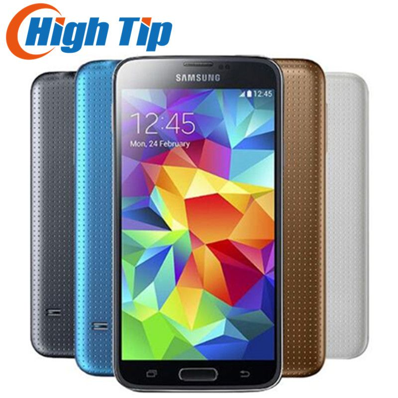 Original Unlocked Samsung S5 SM-G900 G900F G900A G900H Quad-core 5.1 inch 3G&4G 16MP GPS WIFI Mobile Phone Refurbished dropship