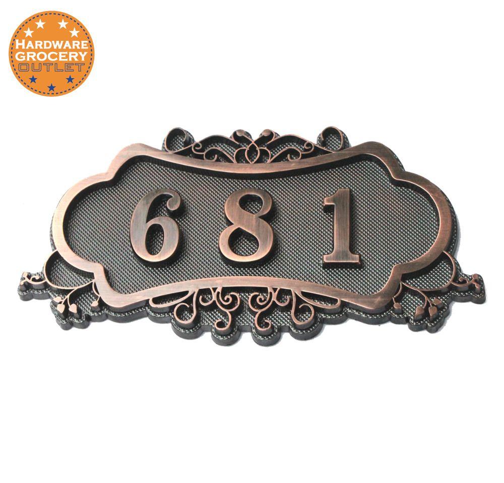 Numéro de maison; signe de porte de style européen; numéro de porte; sur mesure; 3 à 4 numéros; 3D numérique; appartement, maison, hôtel, plaque de porte de Villa