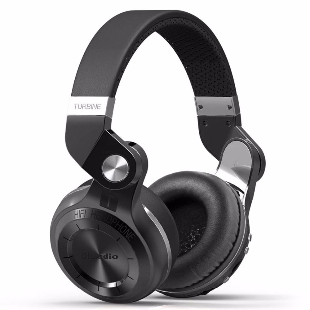 Bluedio T2+ Bluetooth Headphone Over-Ear Wireless Foldable Headphones with Mic BT 4.1 FM Radio SD Card Headset