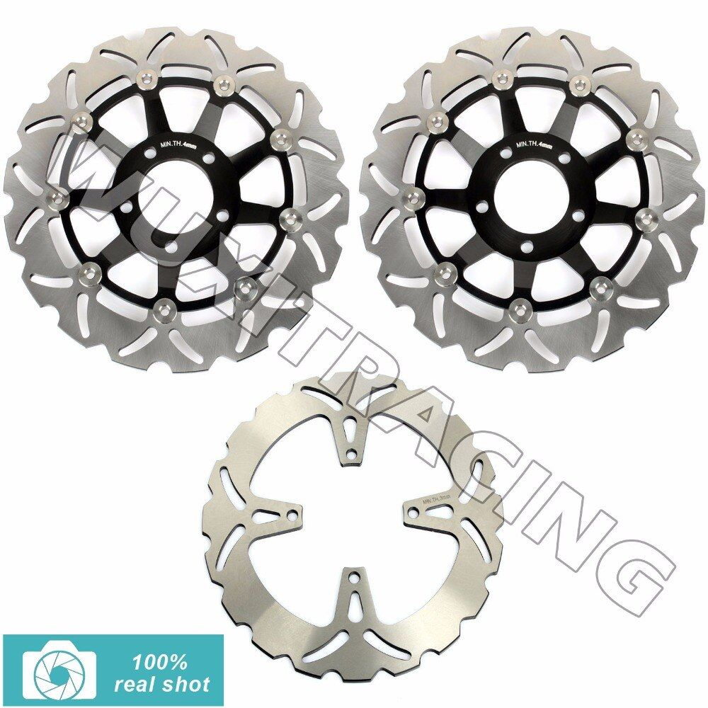 Full Set Front Rear Brake Discs Rotors for SUZUKI GSX 400 600 750 F SS N Katana Impulse 89-97 99 05 90 91  GSF 400 Bandit 89-94