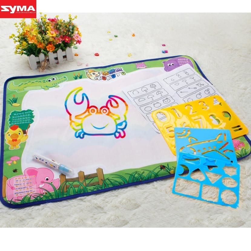 SYMA Drawing toys Water Drawing Writing Mat Board Magic Pen Doodle Gift 50cmX70cm cartoon water drawing toys mat dec21